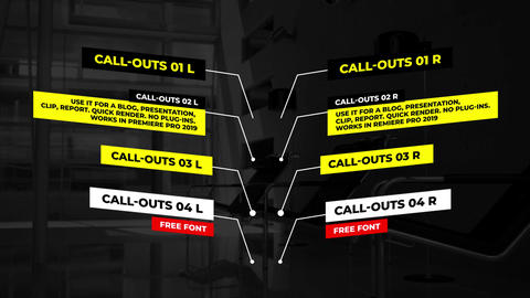 Call Outs Auto Scale Motion Graphics Template