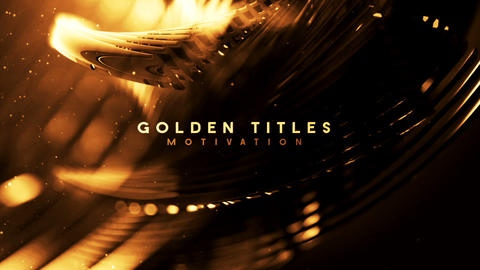Gold titles motivation After Effects Template