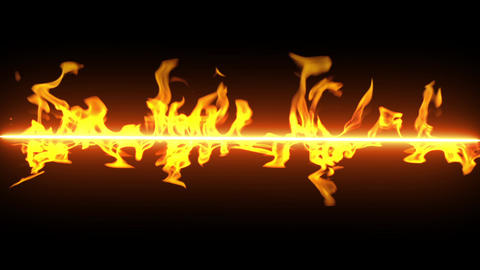 Fire line flame loop animation Videos animados