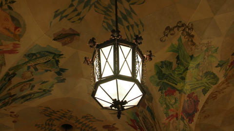 Antique Chandelier In The Interior Live Action