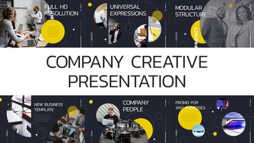 Company Creative Presentation After Effects Template