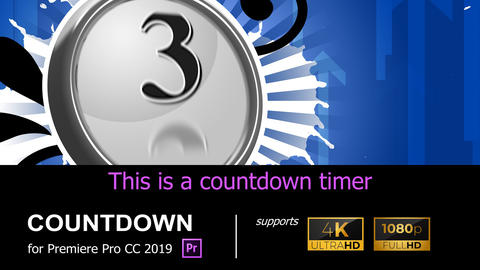 4K/HD COUNTDOWN TIMER [COUNTDOWN01] Premiere Proテンプレート