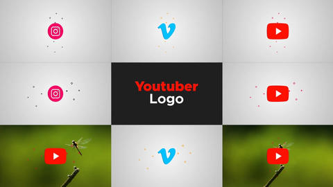 Youtuber Logo After Effects Template