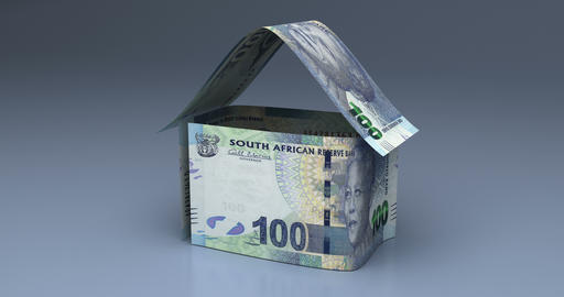 Real Estate with South African Rand Videos animados