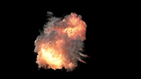 Explosion bomb smoke animation Animation