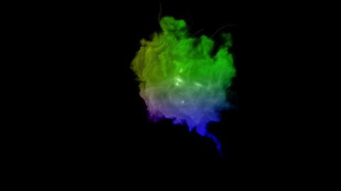 rainbow Explosion bomb smoke animation Animation