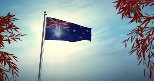 Australia Flag Flying Is A National Symbol Of Patriotism For Australians - 30fps 4k Video Animation