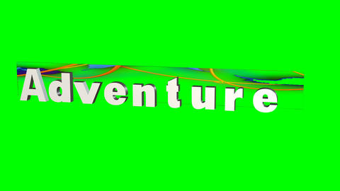 """Adventure"" Title with Effects: Loop + Matte Animation"