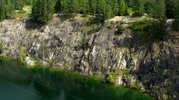 Landscape Marble Canyon. Ruskeala. Karelia Footage