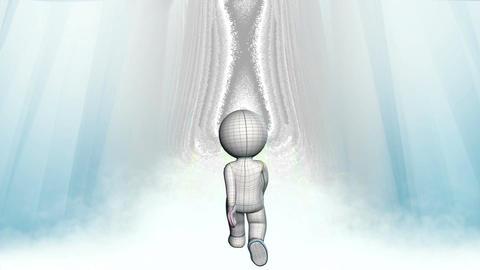 Simple Figure in Celestial Walking Loop Animation