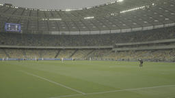 A football match on a big stadium Footage