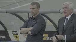Serhiy Rebrov. Coach of football club Dynamo Kyiv during the match Live Action