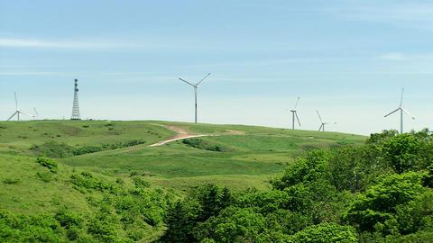 宗谷丘陵 風力発電所 ビデオ