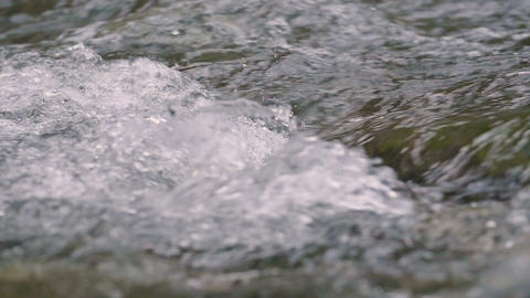 Water flow of Tama river,Filmed in slow motion Footage