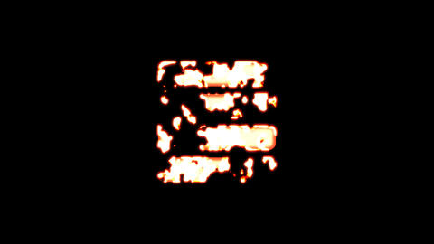 Symbol indent burns out of transparency, then burns again. Alpha channel Premultiplied - Matted with Animation