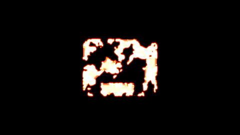 Symbol picture burns out of transparency, then burns again. Alpha channel Premultiplied - Matted Animation