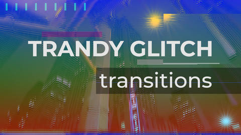 Trendy Glitch Transitions V.1 Plantillas de Premiere Pro