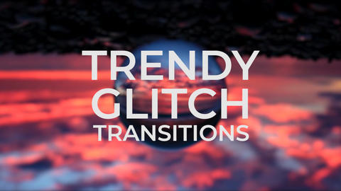 Trendy Glitch Transitions V.3 Plantillas de Premiere Pro
