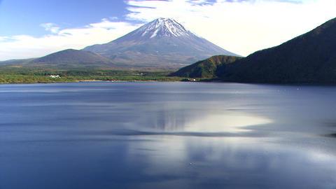 本栖湖 富士山 Footage