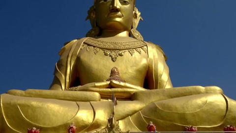 Rakhine Buddha statue at the Mahar Kyain Thit Sar Shin Pagoda, North Okkalarpa,  Footage