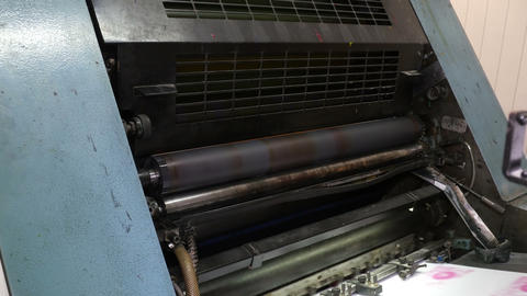 Working printing roller Footage