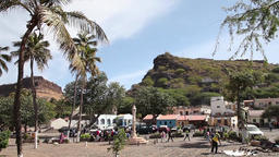 fishing village in cape verde, africa Footage