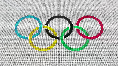 1080p Olympic Games Logo Reveal Footage