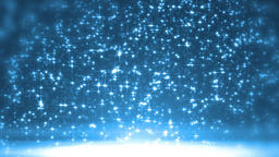 Elegant blue abstract with snowflakes Footage