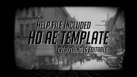 Old Film Titles After Effects Template