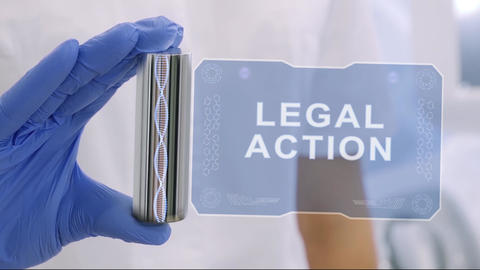 Hand in glove with hologram Legal action Live Action