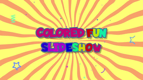 Colored fun slideshow After Effects Template