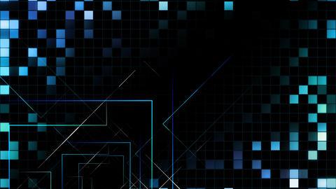 AI, artificial intelligence digital network technologies 19 Grid BG 0 N1 blue 4k Animation