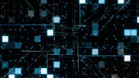 AI, artificial intelligence digital network technologies 19 Grid BG 0 F1 blue 4k Animation