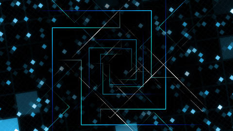 AI, artificial intelligence digital network technologies 19 Grid BG 0A blue 4k Animation