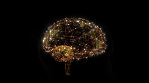 AI, artificial intelligence digital network technologies 19 2 Brain Human Logo 0 red 4k Animation