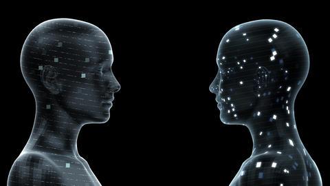 AI, artificial intelligence digital network technologies 19 2 Duo 0 blue 4k Animation