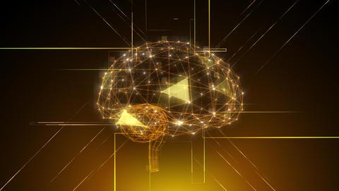 AI, artificial intelligence digital network technologies 19 2 Brain Human Logo 1 red 4k Animation