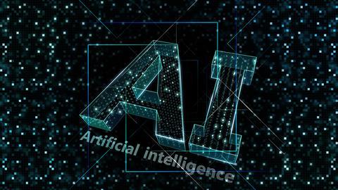 AI, artificial intelligence digital network technologies 19 1 Logo Grid BG 0 N2 green 4k Animation