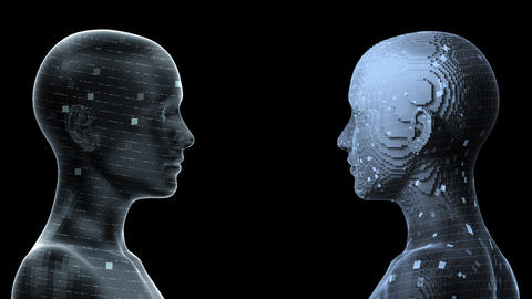 AI, artificial intelligence digital network technologies 19 2 Duo 0 blue2 4k Animation