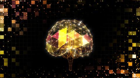 AI, artificial intelligence digital network technologies 19 1 Brain Grid BG 0 red S 4k Animation