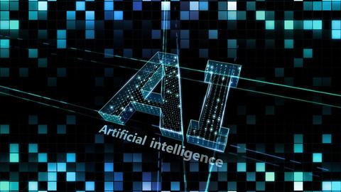 AI, artificial intelligence digital network technologies 19 1 Logo Grid BG 1 N1 kuro 4k Animation