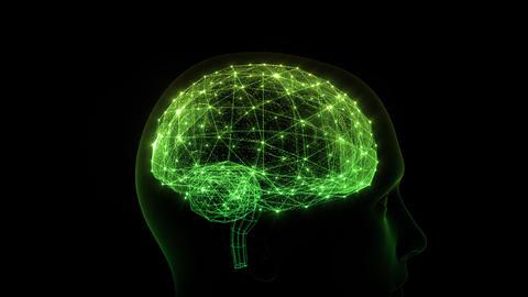 AI, artificial intelligence digital network technologies 19 2 Brain Human Logo 0 green 4k Animation