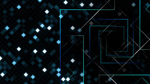 AI, artificial intelligence digital network technologies 19 Grid BG 0B blue 4k Animation