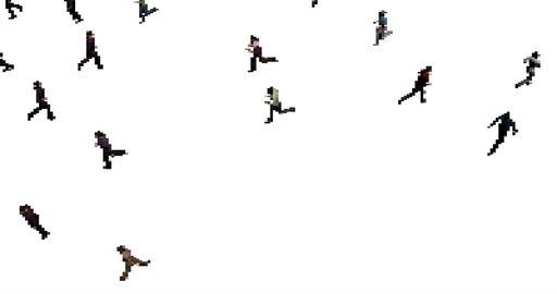 Pixel art crowd animation Footage