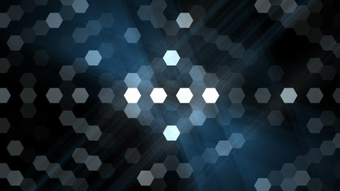 Blue Hexagon Overlay Animation