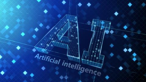 AI, artificial intelligence digital network technologies 19 1 Logo Grid BG 1 N1 blue 4k Animation