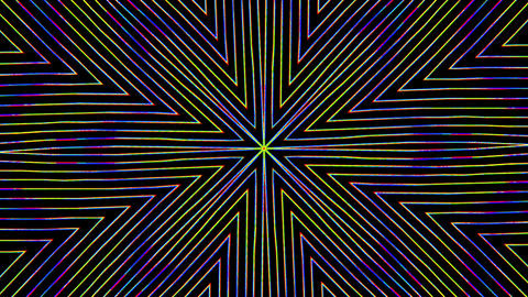 Casual geometrical cosmic flickering shimmering video Live Action