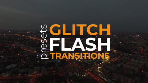 Glitch Flash Transitions Plantillas de Premiere Pro