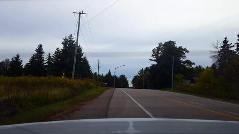 Rear View of Take Off Driving From Stop. Car Point of…, Live Action