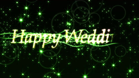 happy wedding title loop Animation